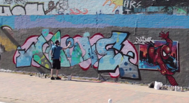 Graffiti video supporting JULIONE by ALONE198, CORE246, KAES, ZHER.